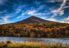 Autumn Twilight Peaks of Otter {Explore!] (Terry Aldhizer) Tags: autumn twilight peaks otter blue ridge mountains parkway virginia bedford county fall october abbott lake terry aldhizer wwwterryaldhizercom cloudsstormssunsetssunrises