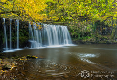 Sgwd Ddwli Uchaf Waterfall  Brecon Beacons Wales (Christopher Pope Photography) Tags: swirl wales breconbeacons christopherpopephotography waterfall colourful nikond610 longexposure autumn d610