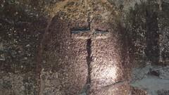 DSCF0048 glise monolithe d'Aubeterre-sur-Dronne (Charente) (Thomas The Baguette) Tags: aubeterresurdronne charente france monolith cave church tympanum glise glisenotredame saintjacques caminodesantiago sexyguy chateau cloister minimes mithra mithras cult