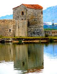 WATERSIDE SCENE, BUTRINT, ALBANIA
