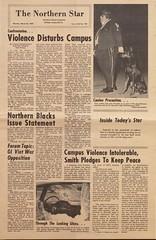 Northern Star, 3-24-1969 (Regional History Center & NIU Archives) Tags: boycott demonstration protest niu northernillinoisuniversity student news newspaper activism