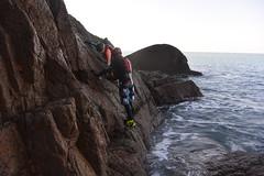 Scrambling in Jersey (Jersey Sea Kayaking) Tags: coasteering jersey scrambling
