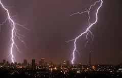 Ligntning over Johannesburg, South Africa. (Derek Keats) Tags: night lowlight afterdark nightime lightning longexposure electricalstorm