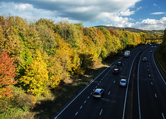 Autumn on the A55 (Brian The Euphonium) Tags: a55 autumn northwales colourful road pentax ks2 sigma1020mm stasaph