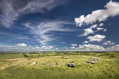 Arbor Low, Peak District (Keartona) Tags: arborlow henge monument peakdistrict whitepeak sky summer wispy clouds limestone stone stones ditch prehistoric england britain derbyshire landscape