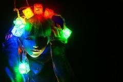 Magic Lights (kicuneakino) Tags: garland blue red green yellow christmas abjd bjd dollzone doll yuu2 lights