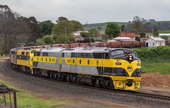 2016-10-30 SSR S317-GM27-GM10-S302 Newbridge 8878 (deanoj305) Tags: newbridge newsouthwales australia au ssr southern shorthaul railroad 8878 s317 gm27 gm10 s302 stramliner bulldog main west line nsw nhkh coal hopper wagon transfer