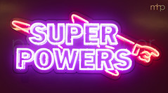 Super Powers (M Hillier) Tags: neon sign superpowers super powers finger point pointing purple red energy provider gas electric electricity lights litup birmingham birminghamnewstreet station train trains railway exposurecompensation lightning bolt capitals capitalletters letters