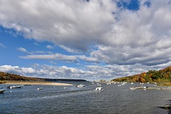 Going fishing! (ineedathis,The older I get the more fun I have....) Tags: billyjoelpark harbor boats water bluesky clouds trees nature autumn nikond750 coldspringharbor huntington longislandnew york seascape