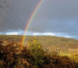 Rainbow near Sale Fell 1