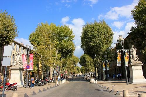 Le Cours Mirabeau à Aix-en-Provence