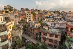 Kathmandu Rooftops at Dusk (Stewart Miller Photography) Tags: kathmandu nepal rooftop city concrete dusk