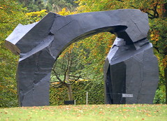 TAICHI ARCH by JU MING (ZHU MING) (Tony Worrall) Tags: beyond limits the landscape british sculpture 19502016 chatsworth house palace royal seat duke place statue art view event show exhibition location chatsworthhouse gardens items photos derbys derbyshire devonshire uk england scene pretty nice beauty sale beyondlimits sothebysbeyondlimits taichiarch ju ming zhu