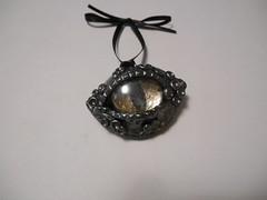 Gunmetal Dragon's Eye (LynzCraftz) Tags: polymerclay pendant resin art acrylicpaint oneofakind handmade