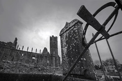 The ruins, Mungret, Co. Limerick. (Sean Hartwell Photography) Tags: mungret church ruins graveyard grave tomb cemetery cross countylimerick limerick ireland 1024mm monochrome blackandwhite spooky