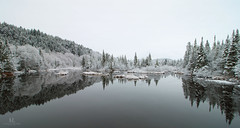 Ambiance frique (Maxime Legare-Vezina) Tags: landscape paysage nature canon winter hiver reflection snow neige quebec canada