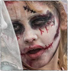 Here comes the Bride.. (Andy J Newman) Tags: bristol england unitedkingdom gb zombie walk bride bridal wedding nikon d500 colorefex