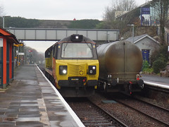 70808 Liskeard (2) (Marky7890) Tags: colasrail class70 70808 6c36 liskeard cornwall train railway