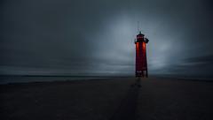Lighthouse (ilovecanon3) Tags: lighthouse lake michigan long exposure longexposure feature topimage