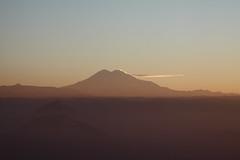 Mt. Elbrus in sunset haze (Sergey Kustov) Tags: dusk sunset mashuk elbrus beshtau mountain ridge caucasus panorama view pyatigorsk russia
