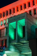 Boston City Hall @ night (alohadave) Tags: boston cityhall downtown governmentcenter massachusetts northamerica pentaxk5 places suffolkcounty unitedstates smcpda1650mmf28edalifsdm