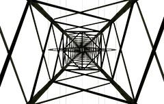 Advanced Geometry (XoMEoX) Tags: stromversorger bw geometrie electricity strom strommast energie energieversorgung d5200 nikon detail lines linien intersections überschneidungen stromversorgung geometry schwarzweiss stromleitung leitungsmast versorger energieversorger lechwerke metal metall construction konstruktion leitung hochspannung hochspannungsmast mast highvoltage volt