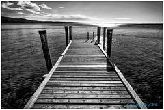pontile (photogianky) Tags: pontile lago garda bn giancarlogottardi fujixpro1