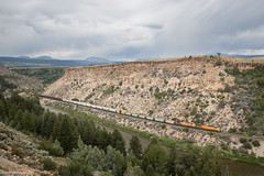 Sheep Mountain Thunderstorm (Jake Miille) Tags: unionpacific trains railroad unionpacificrailroad freighttrain manifest dotserocutoff upglenwoodspringssubdivision coloradoriver burnscolorado storm coloradorailfanning trainsincolorado colorado moffatroute