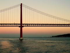 Portugal (13) (The Spirit of the World) Tags: lisboa portugal tagusriver europe 25deabrilbridge internationalorange water seascape waterscape mood atmosphere5star suspensionbridge