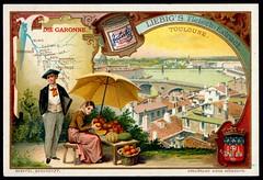 Liebig Tradecard S733 - The Garonne (cigcardpix) Tags: tradecards advertising ephemera vintage chromo liebig france