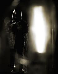 Guard (Andy Keys) Tags: fall bw blackandwhite mf mediumformat ilford delta 100 mamiya rb67 guard cinematic studio character dystopia cinematiclighting