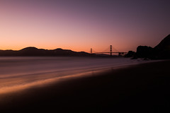 China Beach Sunset (tristanotierney) Tags: sf sanfrancisco china california longexposure bridge beach golden unitedstates bridges goldengatebridge hour goldengate slowshutter ggb longexpo bridgeporn lazyshutter