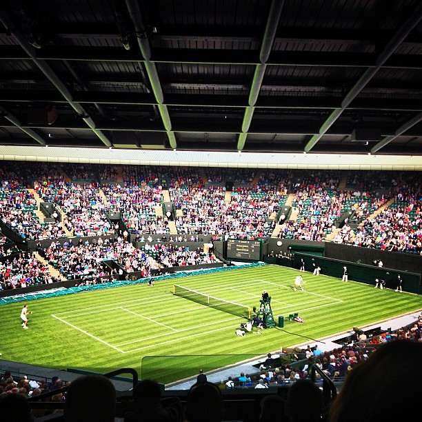 Court No 1 #wimbledon #no1court #nadal #darcis #tennis
