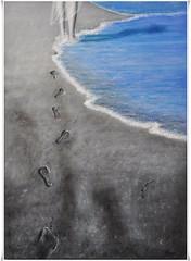 Pasos (Vilchez57) Tags: cutout mar bellasartes playa arena pintor pintura pintores leo orilla pasos pisadas huellas exposicin vilchez57