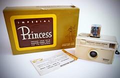 Imperial Princess Vintage Camera (Inspiredphotos) Tags: camera brown film vintage toy kodak cream collection plastic cube imperial eastman corp kamera 126 cartridge flashbulb inspiredphotos