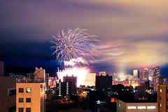 Toyohira River fireworks (Sapporo, Japan) |  (Robert Thomson) Tags: summer japan river sapporo long exposure hokkaido fireworks toyohira