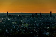Brisbane at Dusk (Fishyone1) Tags: skyline brisbane