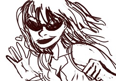 smile (rmax004) Tags: old pink woman girl smile sunglasses big protest masked anarchist milf provocative provocation