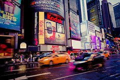 Time Square after the rain (Thomas Bourgery) Tags: newyork yellowcab timesquare 24105l eos6d canon6d