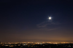 Panorama da Montevecchia (Panozzz) Tags: sunset panorama cloud night clouds canon landscape eos reflex nuvole luna cielo luci dslr 18 55 notturna notte paesaggio stelle caon montevecchia ciofegon plasticotto 1000d