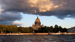 IMG_0950 ed (BumbyFoto) Tags: travel sunset water architecture stpetersburg canal day cloudy russia