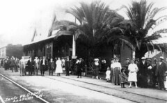 Santa Fe Depot, Anaheim, early 1900s (Orange County Archives) Tags: california history rail transportation depot historical southerncalifornia orangecounty santaferailroad orangecountyarchives orangecountyhistory
