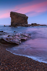 Wisps of Pink (MarkCoulthard89) Tags: pink sunset sea sky seascape rocks stack northumberland seatonsluice canonefs1755mmf28isusmlens collywellbay charleysgarden