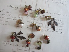 My Finished Fall Charms (terri gordon) Tags: leafs acorns pinecones fallcharms