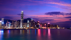 Victoria harbour (EELZLACA) Tags: sunset sea sky skyline hongkong nikon harbour magic sigma 1020mm d800 dx sigmalens