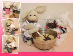 2011 Cooking Calendar - February (ZackRabbit) Tags: rabbit bunny cooking animal stuffed calendar stuffedanimals calendars cookinwifrabbits