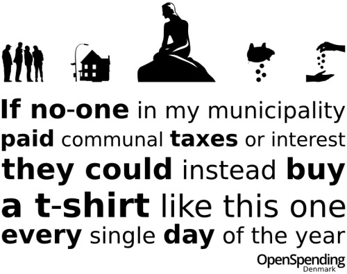 Danish version of the spending t-shirt
