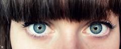 Colour (AmbreRogue) Tags: closeup eyes eyelashes blueeyes greeneyes hazel bangs eyeliner eyecolor