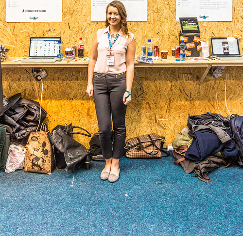 This Lady Representing Socialcue At The Web Summit Is Going To Go Far But I Forget To Ask Her Name