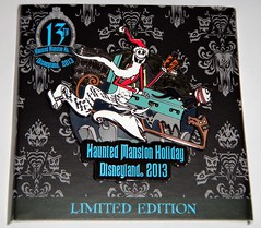 2013 Haunted Mansion Holiday Pin - LE 500 - Disneyland Purchase - 2013-11-10 - On Backing Card - Full Front View (drj1828) Tags: holiday pin disneyland release haunted jackskellington mansion zero jumbo nightmarebeforechristmas 2013 disneypintrading productinformation pinonpin